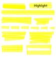 hand drawn highlight marker lines set highlighter vector image vector image