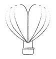 hot air balloon flying with heart shape vector image