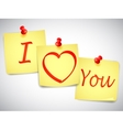 I Love You Notes vector image vector image
