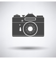 Icon of retro film photo camera vector image vector image