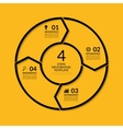 Infographic circle template with 4 steps vector image vector image