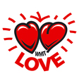 logo two hearts love vector image