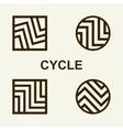 Modern set template monogram emblem logo Symbol vector image vector image