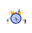 morning time for business people work icon man vector image vector image
