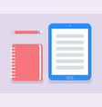 notebook to write memos and personal information vector image vector image