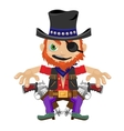 One-eyed bandit with guns character in wild West vector image vector image