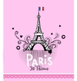 Paris post card vector image vector image