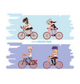 people in bicycle drive safely campaign vector image vector image