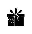 present box black icon sign on isolated vector image vector image