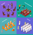 religions people isometric concept vector image