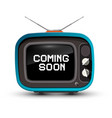 Retro tv with coming soon title on screen