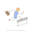 running businessman - overcoming problems vector image vector image