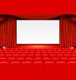 scene cinema background art performance on stage vector image