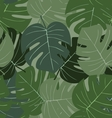 Seamless camouflage pattern of palm leaves dark vector image vector image