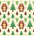 seamless pattern bear vector image vector image