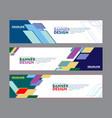set banner design for web banner brochure vector image