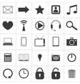 set media icons vector image vector image