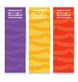 set of colorful graphic pattern vertical banners vector image vector image