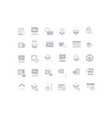 set simple icons software vector image vector image