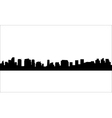 Silhouette of city with black color vector image vector image