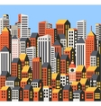 Skyscrapers and houses vector image vector image