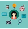socia media related icons image vector image vector image