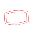 stamp oval rectangle light 7 vector image