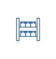stock industrial warehouse line icon concept vector image vector image