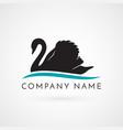 swan logo sign emblem-19 vector image vector image
