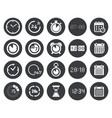 time clock calendar icons vector image vector image