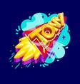 tony name rocket vector image vector image