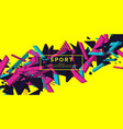 trendy sports background composition of geometric vector image vector image
