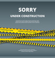 under construction page web site design template vector image