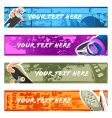 urban banner backgrounds set vector image vector image