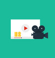 video marketing digital business flat design vector image