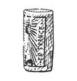vintage engraved cork for bottle wine hand vector image