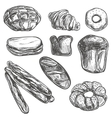 Vintage hand drawn sketch style bakery set vector image vector image