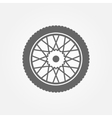 Wheel icon or symbol vector image vector image