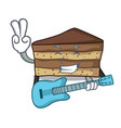 with guitar tiramisu mascot cartoon style vector image vector image