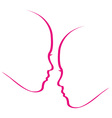 Woman whispering into another womans ears vector image vector image