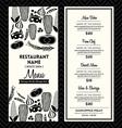 Black and White Restaurant Menu Design Template vector image