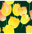 Seamless tulips pattern vector image