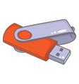 usb flash drive vector image