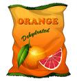 Bag of dehydrated orange