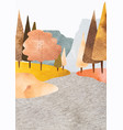 abstract landscape art background with watercolor vector image