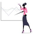 abstract scholar lady vector image vector image