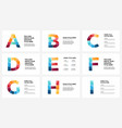 alphabet infographic presentation slide vector image