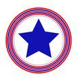 american symbol blue star icon vector image vector image