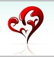 Artistic heart shape as design element vector image vector image