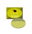 bar of soap flat icon vector image vector image